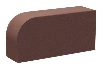 Кирпич лицевой радиусный  Темный шоколад