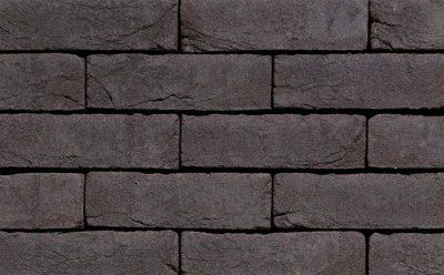 Кирпич облицовочный ручной формовки Terca Agora Grafietzwart (50mm Graphite Black), 210*100*50 мм