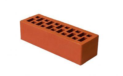 Кирпич лицевой керамический BRAER пустотелый красный гладкий, 250*85*65 мм