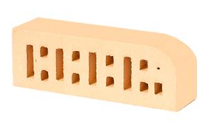 Кирпич радиусный пустотелый Lode Sarmite F15 гладкий, 250*85*65 мм