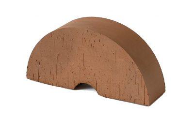 Кирпич фигурный полнотелый (радиальный) Lode Brunis гладкий, 250*121*65 мм