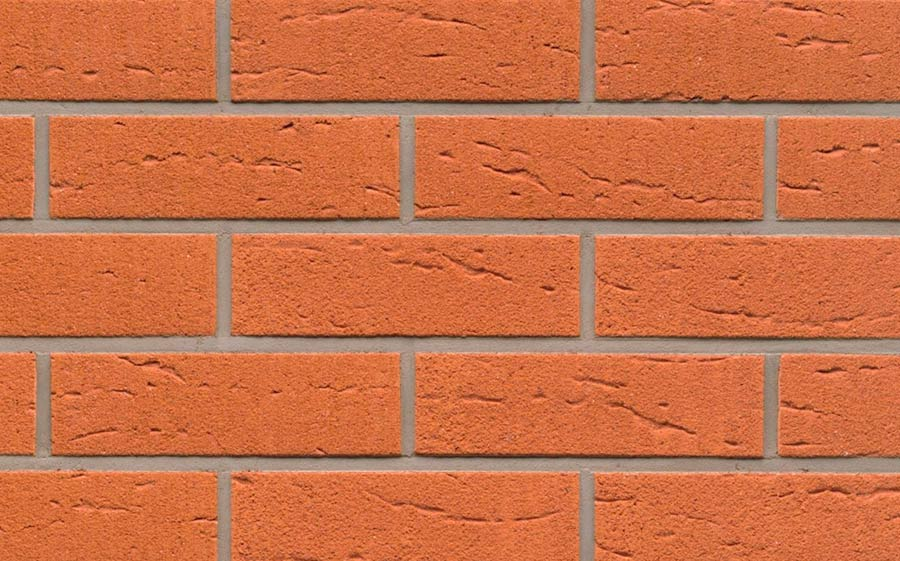 Клинкерная фасадная плитка Feldhaus Klinker R227 terracotta rustico, 240*71*9  мм