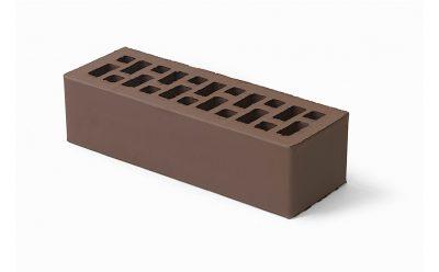 Кирпич лицевой керамический BRAER пустотелый коричневый гладкий, 250*85*65 мм