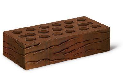 Кирпич лицевой 1,0 Fusion wave (красно-коричневый мультион, накатка Рустик, б/п)