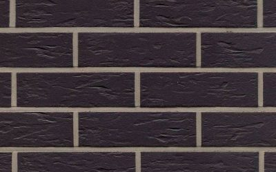 Клинкерная фасадная плитка Feldhaus Klinker R740 anthracit senso, 240*71*9 мм
