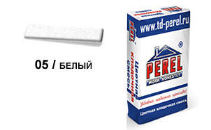 Цветной кладочный раствор PEREL SL 5005 белый зимний, 50 кг