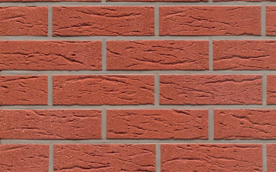 Клинкерная фасадная плитка Feldhaus Klinker R435 carmesi mana, 240*71*9 мм