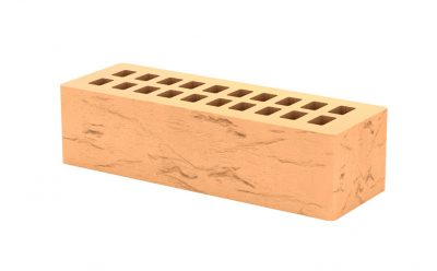 Кирпич клинкерный Тербунский гончар янтарный камень старый город 250*85*65 мм (г. Липецк)