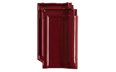 Керамическая черепица рядовая CREATON MZ3 Finesse красное вино глазурь