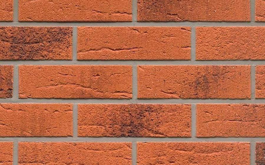 Клинкерная фасадная плитка Feldhaus Klinker R228 terracotta rustico carbo, 240*71*9  мм