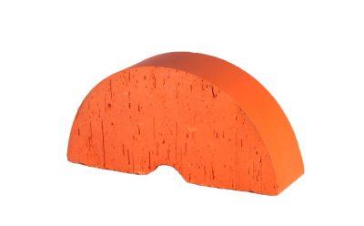 Кирпич фигурный полнотелый (радиальный) Lode Janka гладкий, 250*121*65 мм