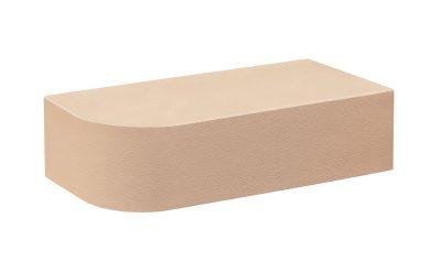 Кирпич лицевой керамический полнотелый радиусный КС-Керамик лотос гладкий, 250*120*65 мм