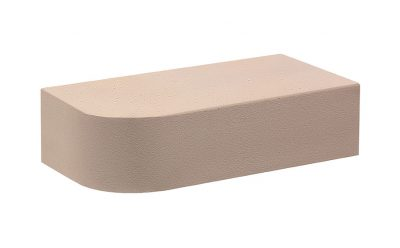 Кирпич лицевой керамический полнотелый радиусный КС-Керамик Камелот темный шоколад гладкий, 250*120*65 мм