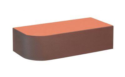 Кирпич лицевой керамический полнотелый радиусный КС-Керамик Аренберг гладкий, 250*120*65 мм