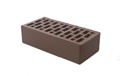 Кирпич лицевой керамический BRAER пустотелый коричневый гладкий, 250*120*65 мм