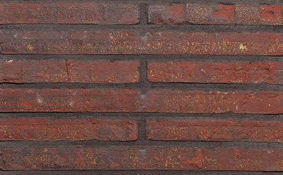 Лицевой кирпич ручной формовки Terca Tobago Wasserstrich Rood (Roman Red Water Struck), 495*100*38 мм
