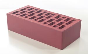 Кирпич лицевой керамический BRAER пустотелый светло-бордовый гладкий, 250*120*65 мм