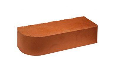 Кирпич облицовочный радиусный полнотелый Terca Red гладкий, 250*85*65 мм