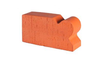 Кирпич фигурный полнотелый Lode Janka F6 гладкий, 250*120*65 мм