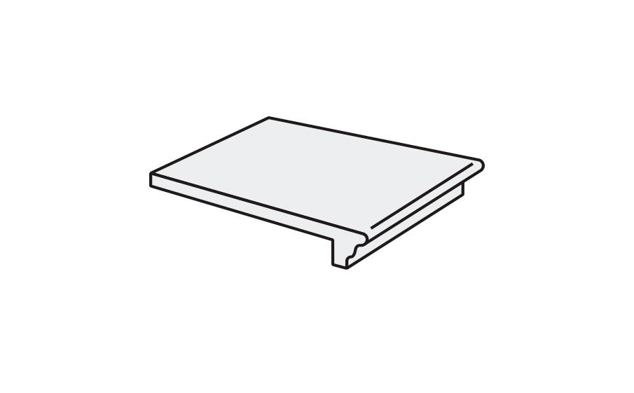 Клинкерная ступень флорентинер Stroeher Keraplatte Asar 640 maro, 340x294x12 мм