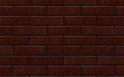 Клинкерная фасадная плитка KING KLINKER Free Art коричневый глазурованный (02), 250*65*10 мм