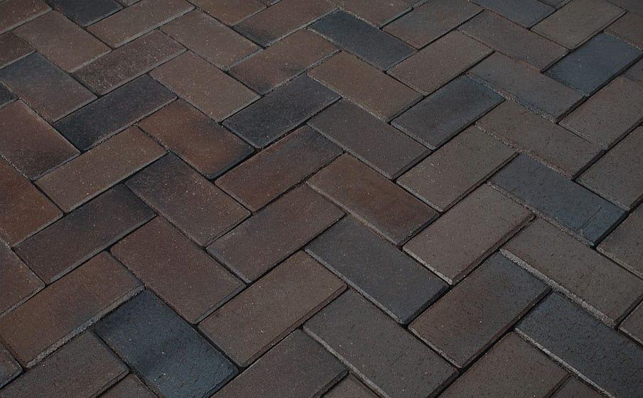 Тротуарная клинкерная брусчатка Penter Titan braun-anthrazit, 200x100x52 мм