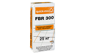 Затирка для швов quick-mix FBR 300 белая, 25 кг