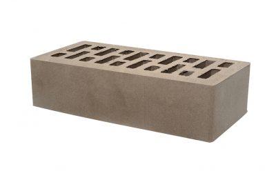Кирпич лицевой керамический пустотелый Тербунский гончар коричневый (темно-серый) гладкий 250*120*65 мм (г. Липецк)