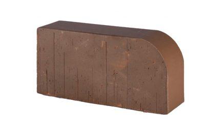 Кирпич радиусный полнотелый Lode Brunis F15 гладкий, 250*120*65 мм