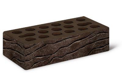 Кирпич лицевой 1,0 Brown furrow (накатка Рустик+посыпка Песок)