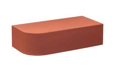 Кирпич лицевой керамический полнотелый радиусный КС-Керамик красный гладкий, 250*120*65 мм