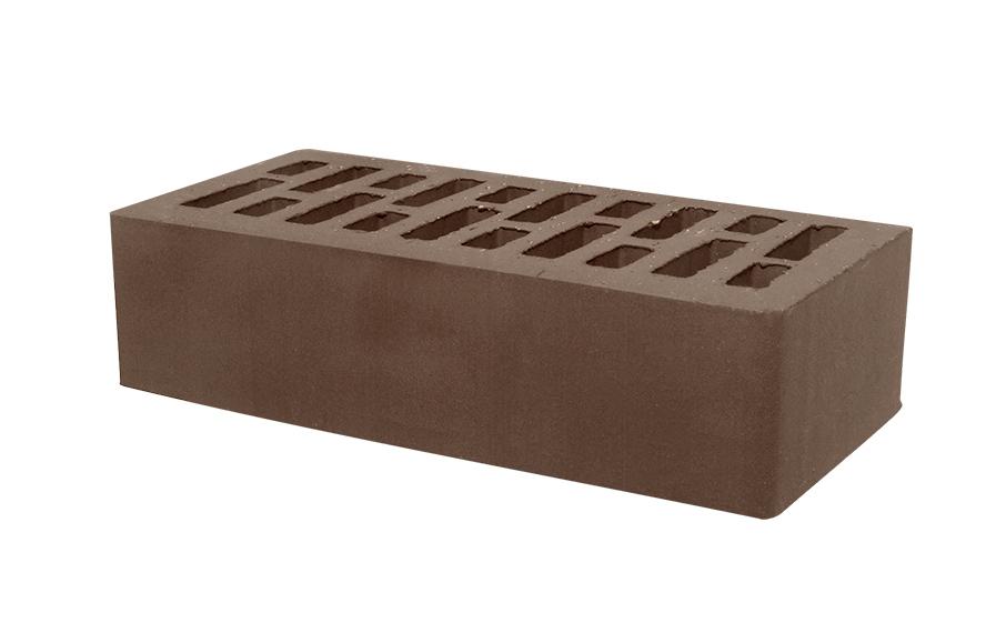 Кирпич лицевой керамический пустотелый Тербунский гончар корица (шоколад) гладкий 250*120*65 мм (г. Липецк)