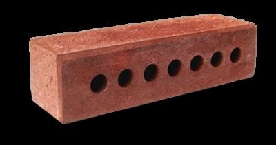 Кирпич узкий колотый тычковый пустотелый с.ф. красный