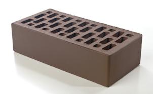 Кирпич лицевой керамический BRAER пустотелый светло-коричневый гладкий, 250*120*65 мм