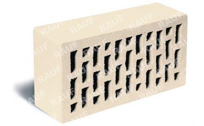 Кирпич лицевой керамический ЛСР пустотелый белый гладкий М150 250*120*65 мм