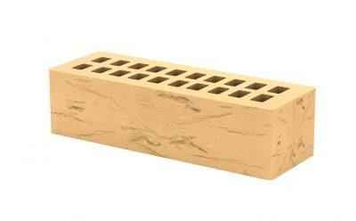 Кирпич лицевой керамический Тербунский гончар золотистый, старый город 250*85*65 мм (г. Липецк)