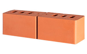 Кирпич керамический пустотелый Lode Janka (2 половинки) гладкий, 250*120*65 мм