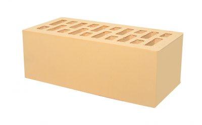 Кирпич утолщенный пустотелый Тербунский гончар золотистый гладкий 250*120*88 мм (г. Липецк)