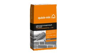 Цветной кладочный раствор quick-mix LHM зима бежево-белый, 25 кг