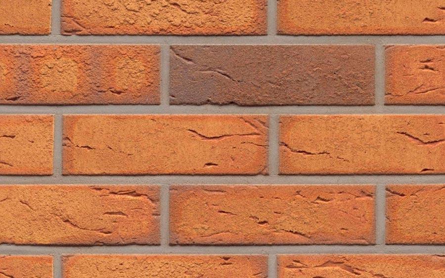 Клинкерная фасадная плитка Feldhaus Klinker R268 nolani viva rustico, 240*71*9  мм