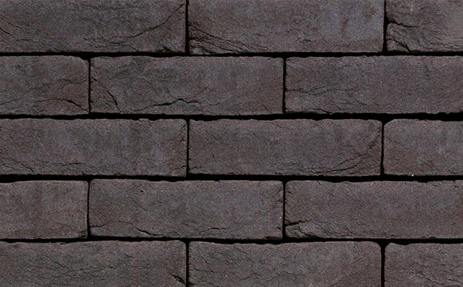 Кирпич облицовочный ручной формовки Terca Agora Grafietzwart (65mm Graphite Black), 210*100*65 мм