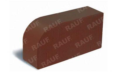 Кирпич радиусный полнотелый ЛСР R-60 коричневый гладкий 250*120*65 мм