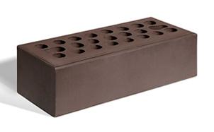 Кирпич лицевой керамический пустотелый Керма шоколад гладкий 250*85*65 мм