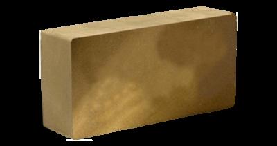 Кирпич стандартный полнотелый гладкий желтый