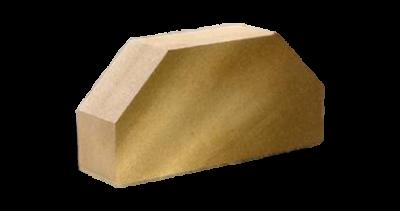 Кирпич стандартный полнотелый гладкий 2-х  угловой желтый