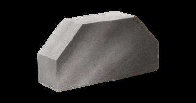 Кирпич стандартный полнотелый гладкий 2-х  угловой серый