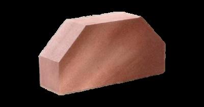 Кирпич стандартный полнотелый гладкий 2-х угловой  красный
