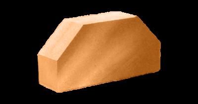 Кирпич стандартный полнотелый гладкий 2-х  угловой терракот
