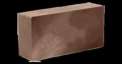 Кирпич стандартный полнотелый гладкий шоколад, бордо