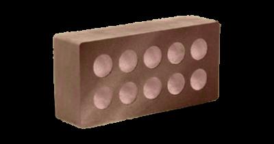 Кирпич стандартный гладкий пустотелый шоколад, бордо